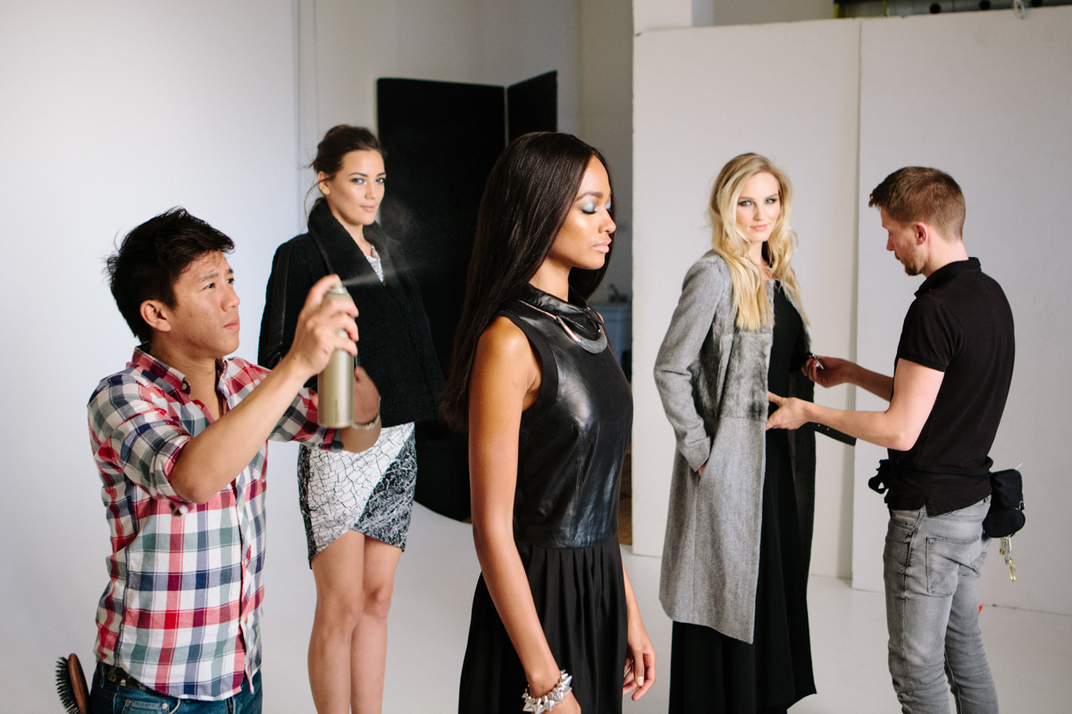 Behind the Scenes at Square One with models