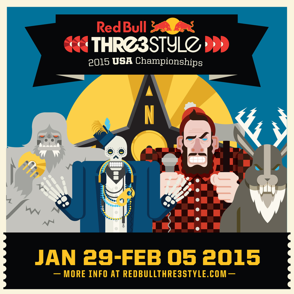 Red Bull Thre3style poster