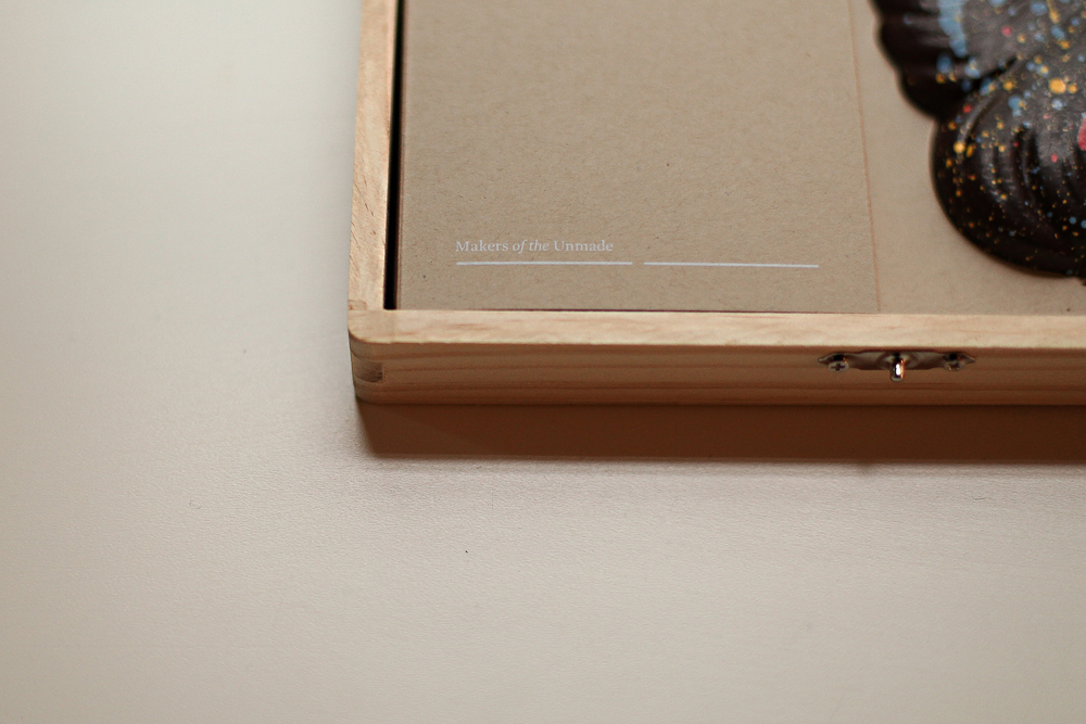 close up of box desgined by jacknife