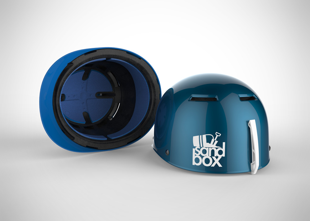 Blue Sandbox Helmet