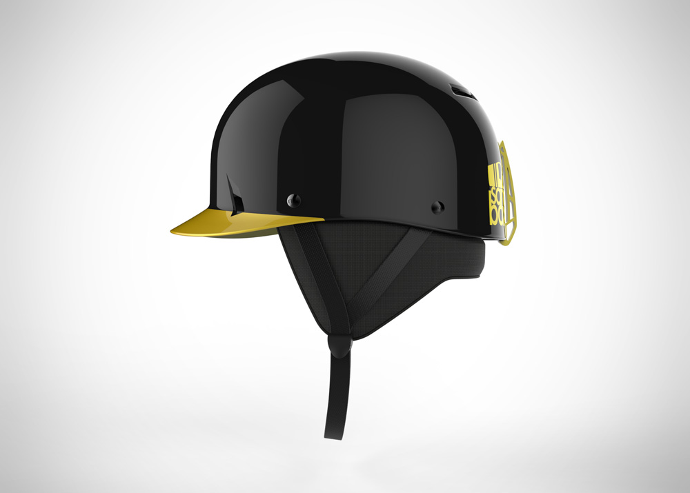 Black and yellow Sandbox helmet
