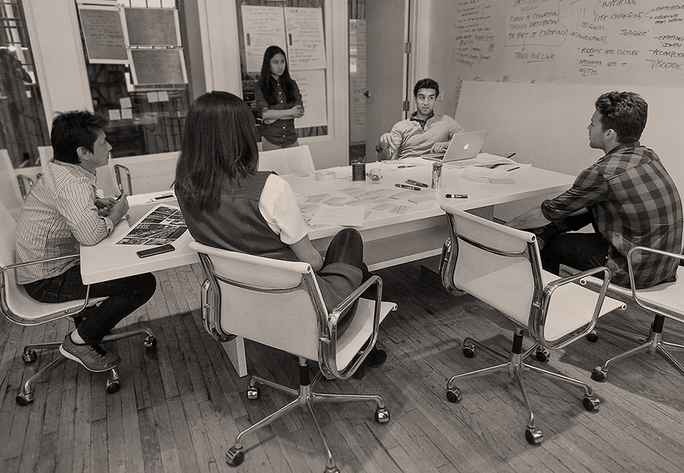 Brand Strategy brainstorming at jacknife office