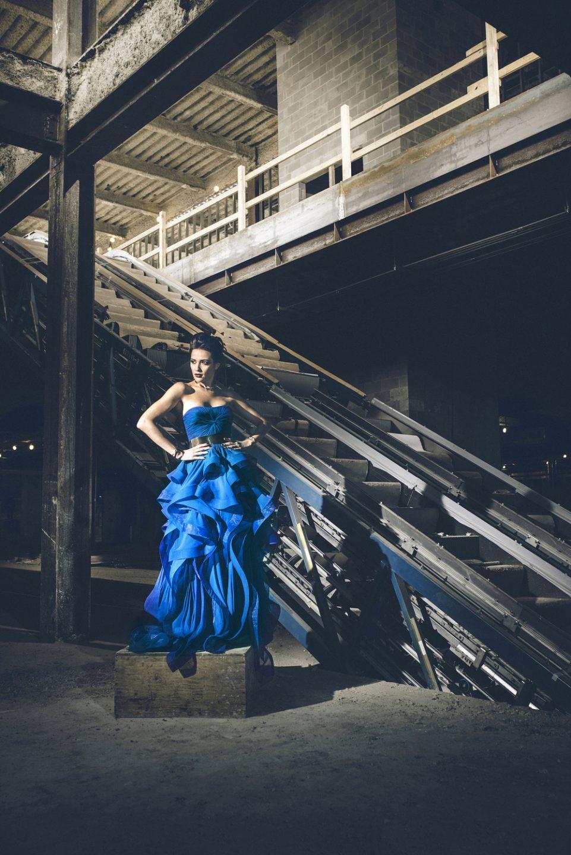 Jadde Tenholder blue dress