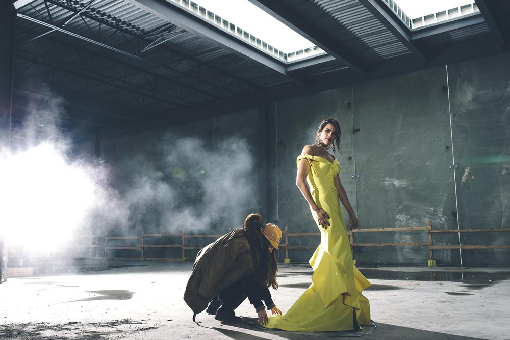 Jadde Tenholder Square One Model Yellow Dress