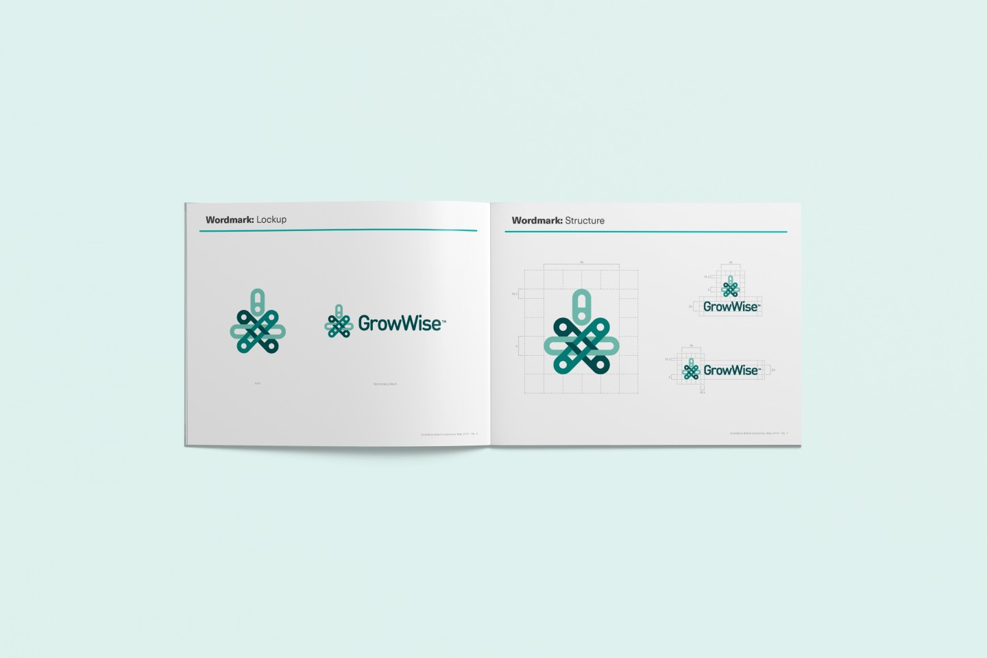 GrowWise brand guide booklet