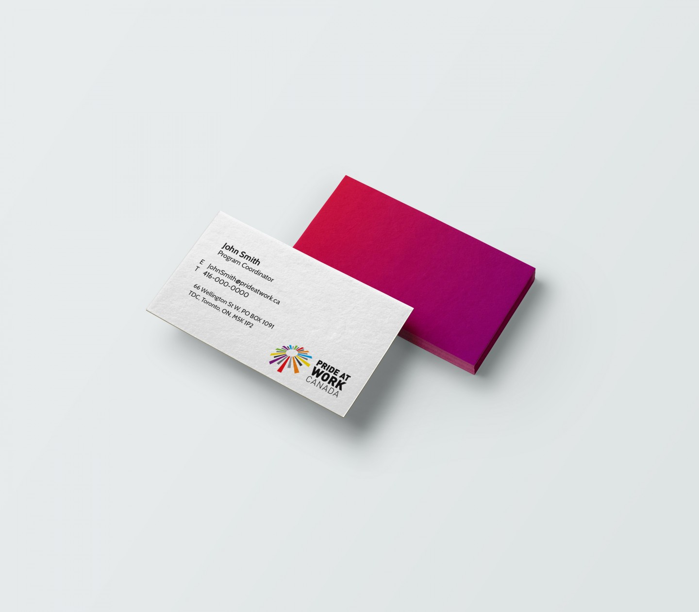 Pride at work Business Card Mockup