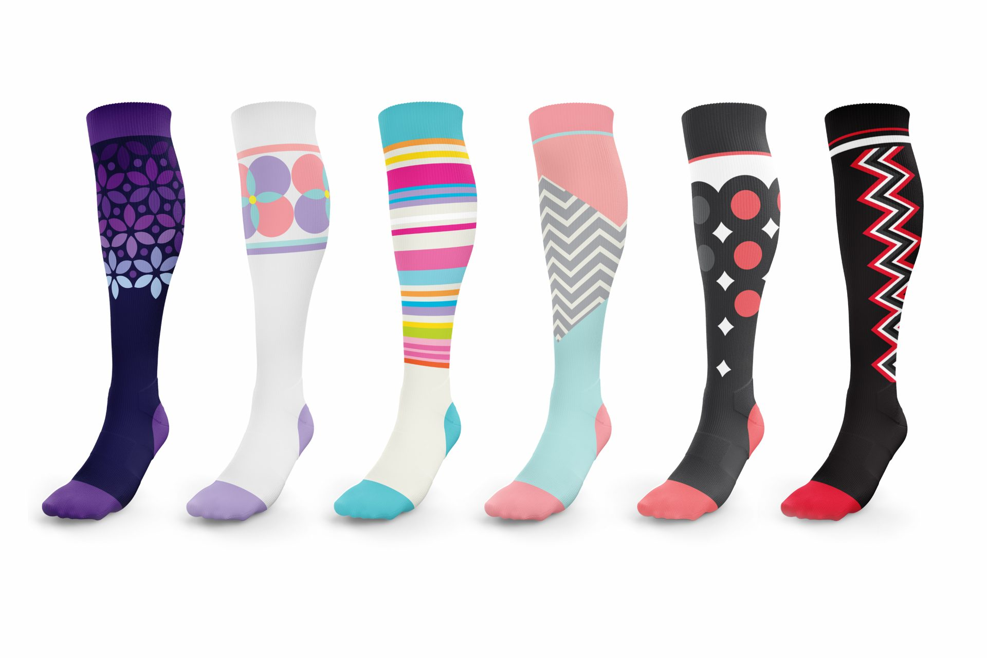 variety of Lunatik Athletiks Socks