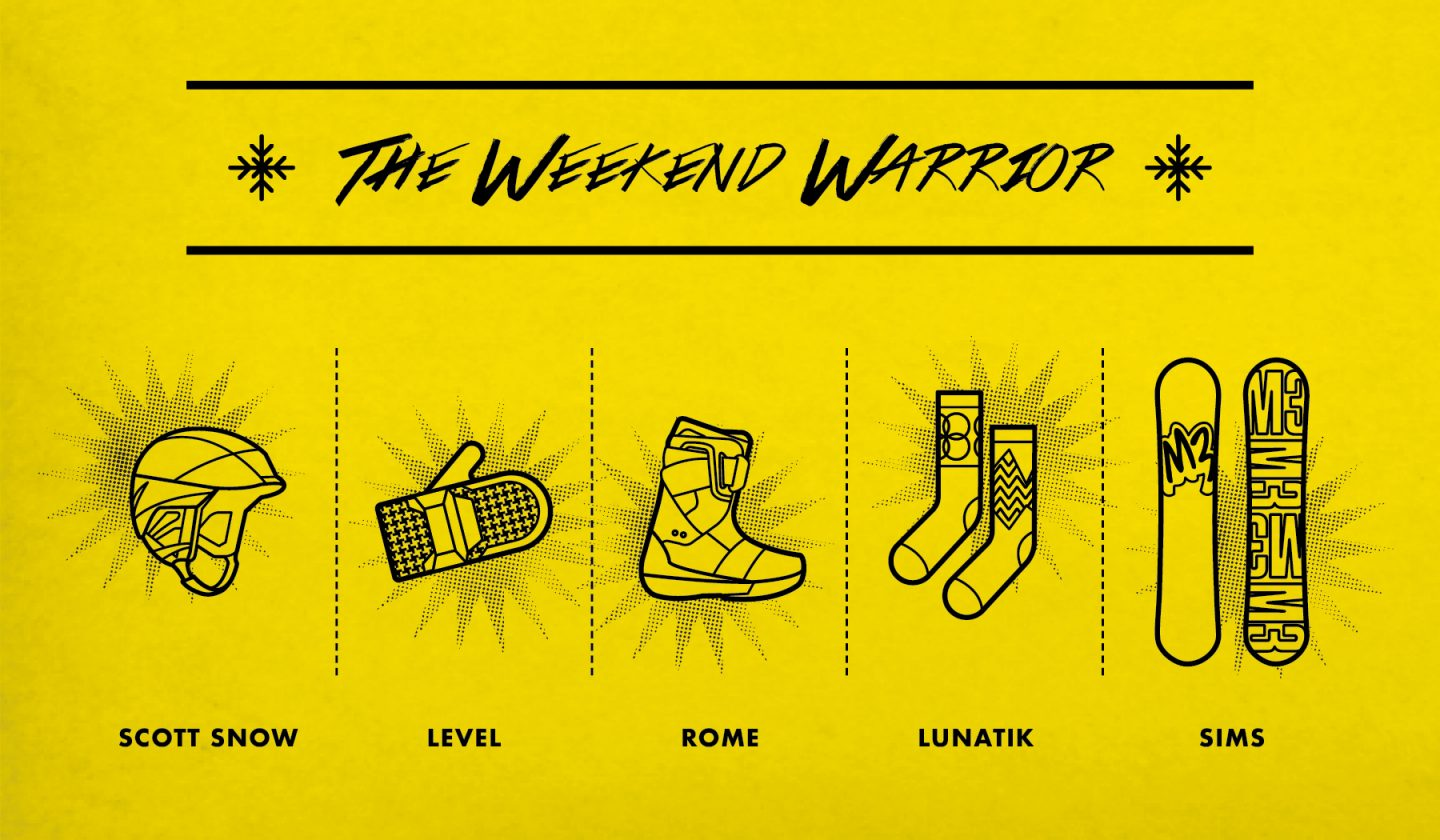 The Weekend Warrior Holiday Gift Guide Poster