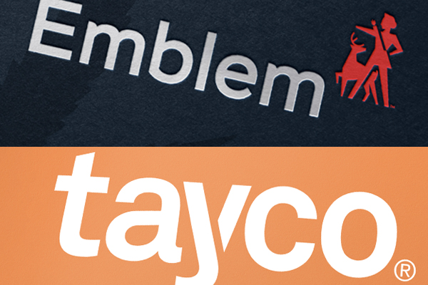 emblem and tayco cannabis brand logos