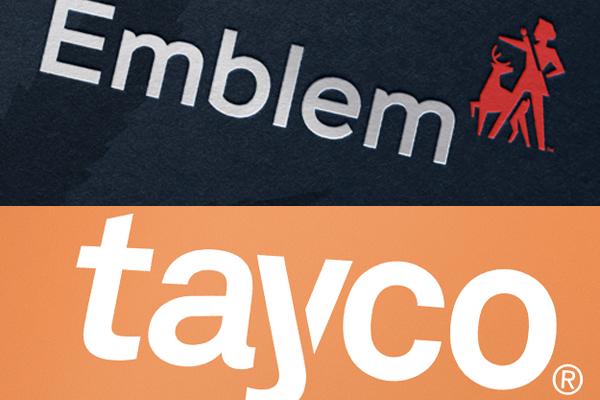 emblem and tayco cannabis brand logos