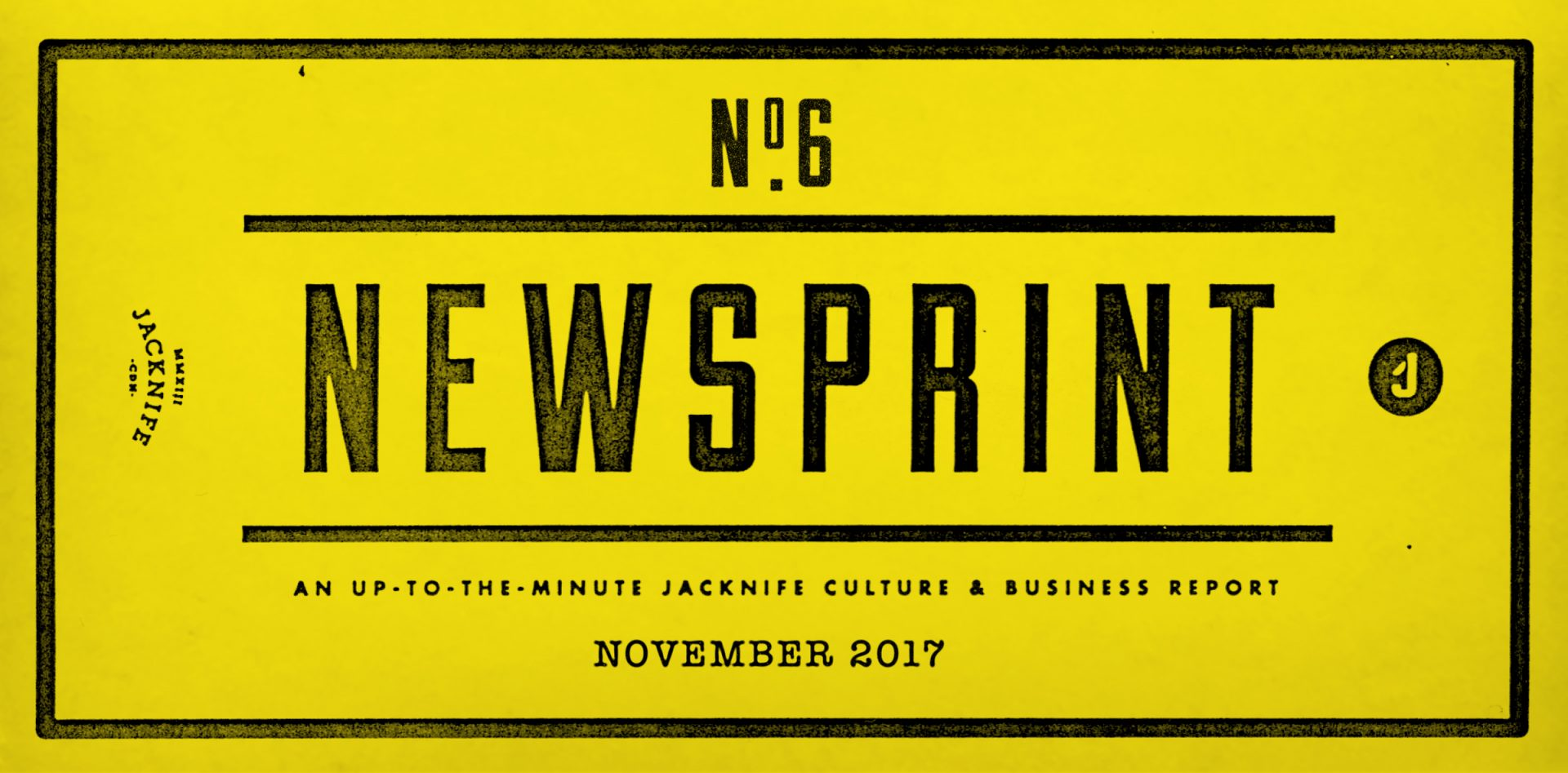 Jacknife News ticket with yellow background