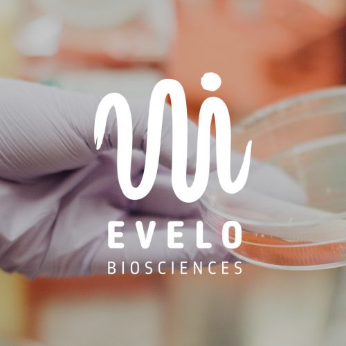 Evelo Biosciences logo with background
