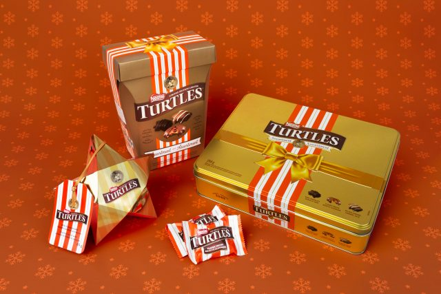 turtles holiday gift box